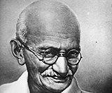 「マハトマ・ガンディー」の肖像